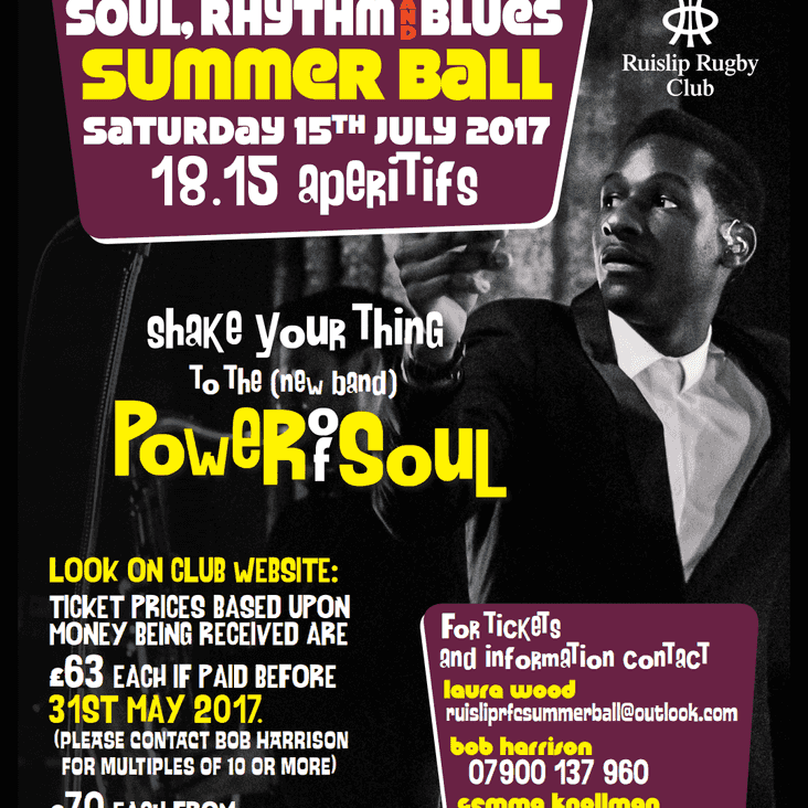 Buy your Summer Ball Tickets Today!!