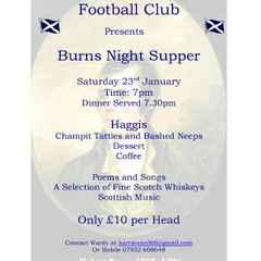 Burns Night 23rd Jan