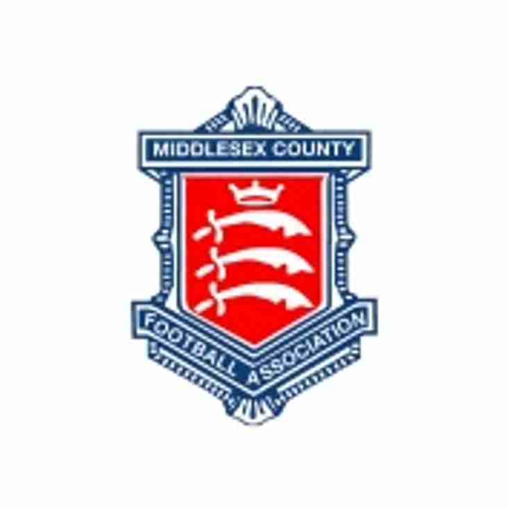Middlesex FA Youth Cup Match postponed