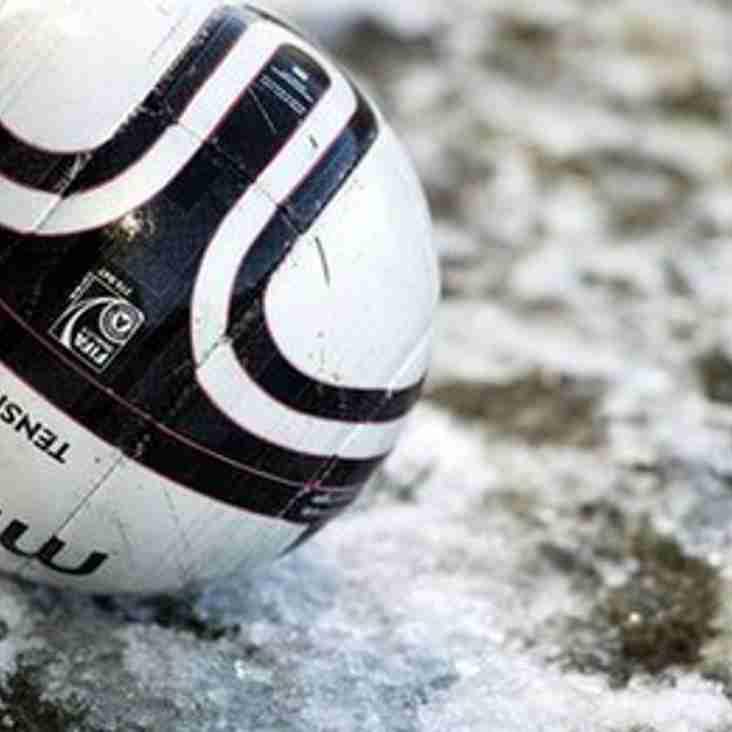 Under 18's match postponed
