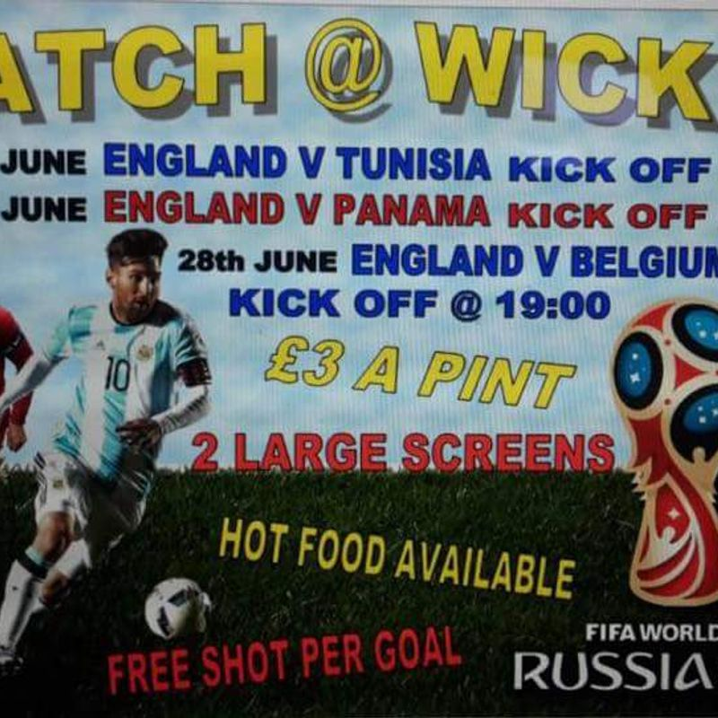Watch England's World Cup games at Wick
