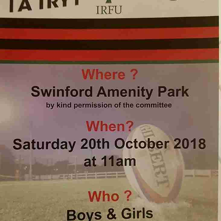 Swinford Mini Rugby begins this Saturday