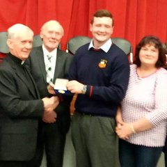 Gold Medal for our Chris at St Muredach's Awards