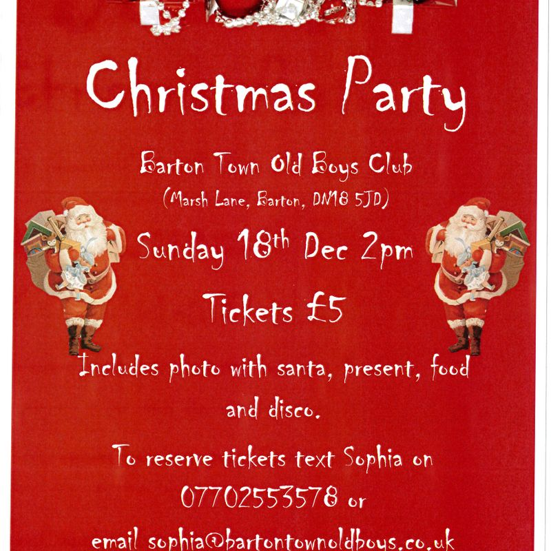 Club News | We're Having A Christmas Party!