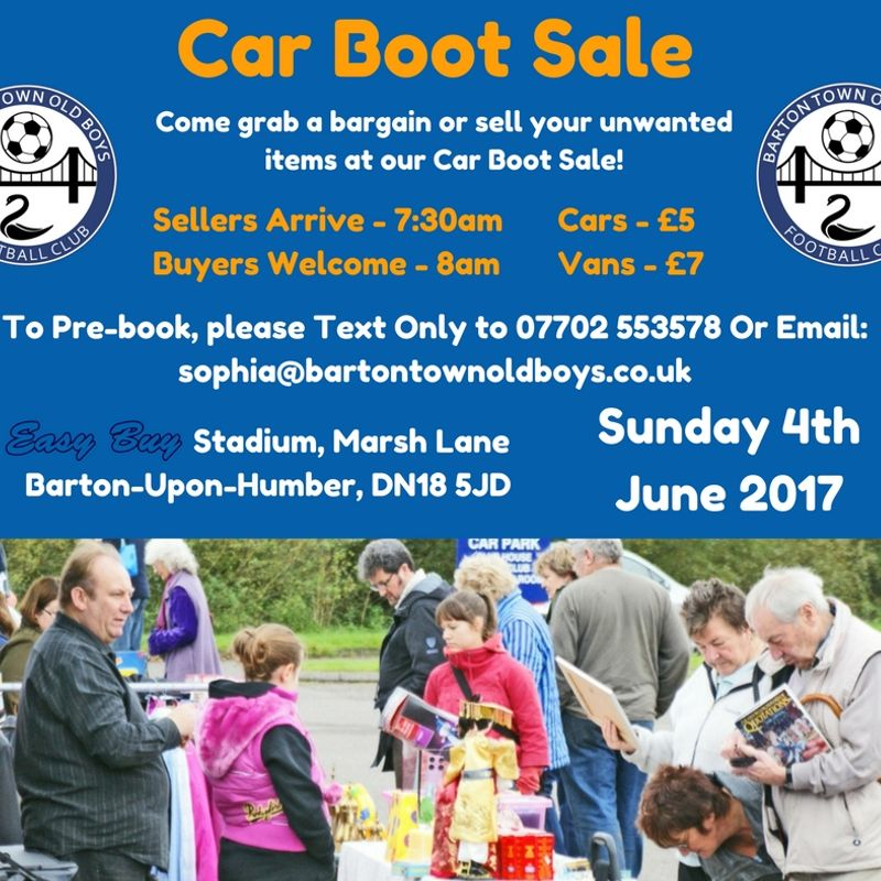 Event | Car Boot Sale | Sunday 4th June 2017