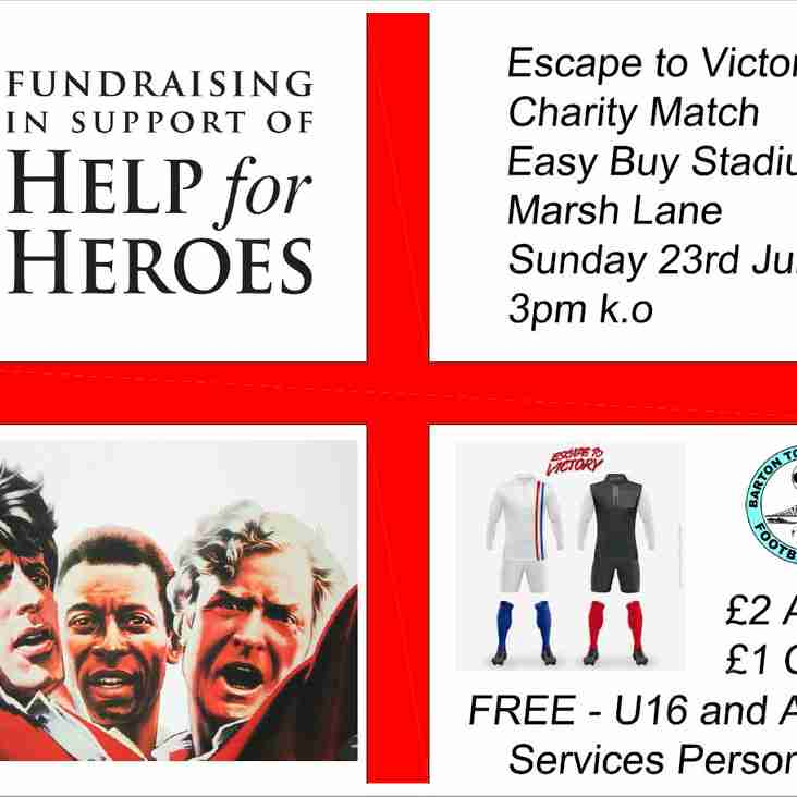 Club News   Escape To Victory Charity Match