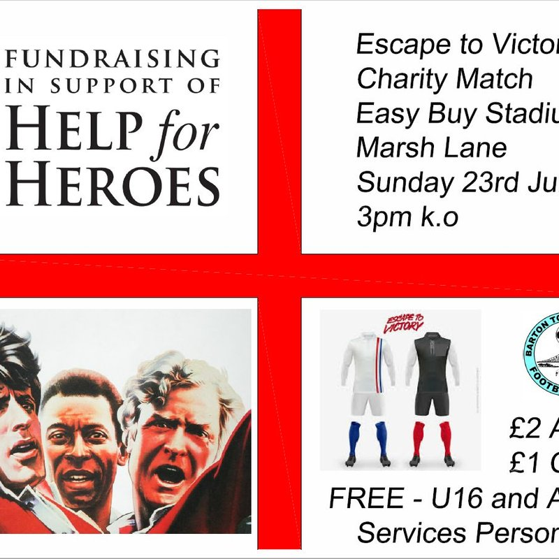 Club News | Escape To Victory Charity Match