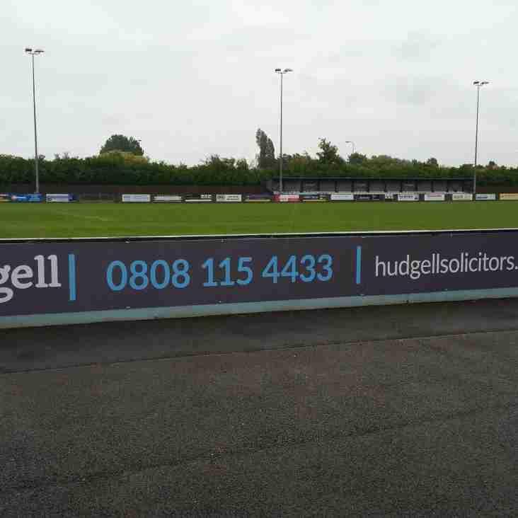 Club News | Major Stand Sponsor Renewal - Hudgell Solicitors!