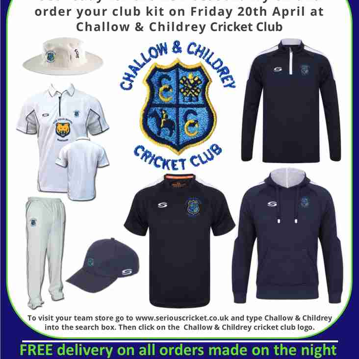 Youth Registration Evening and Serious Cricket Roadshow - Fri 20th April, 5-7pm