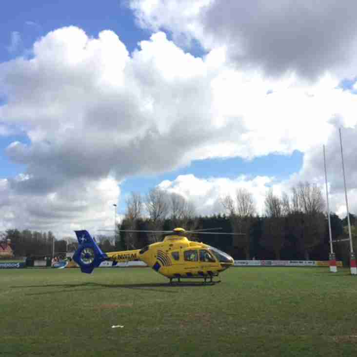 NW Air Ambulance at Stockport Rugby Club