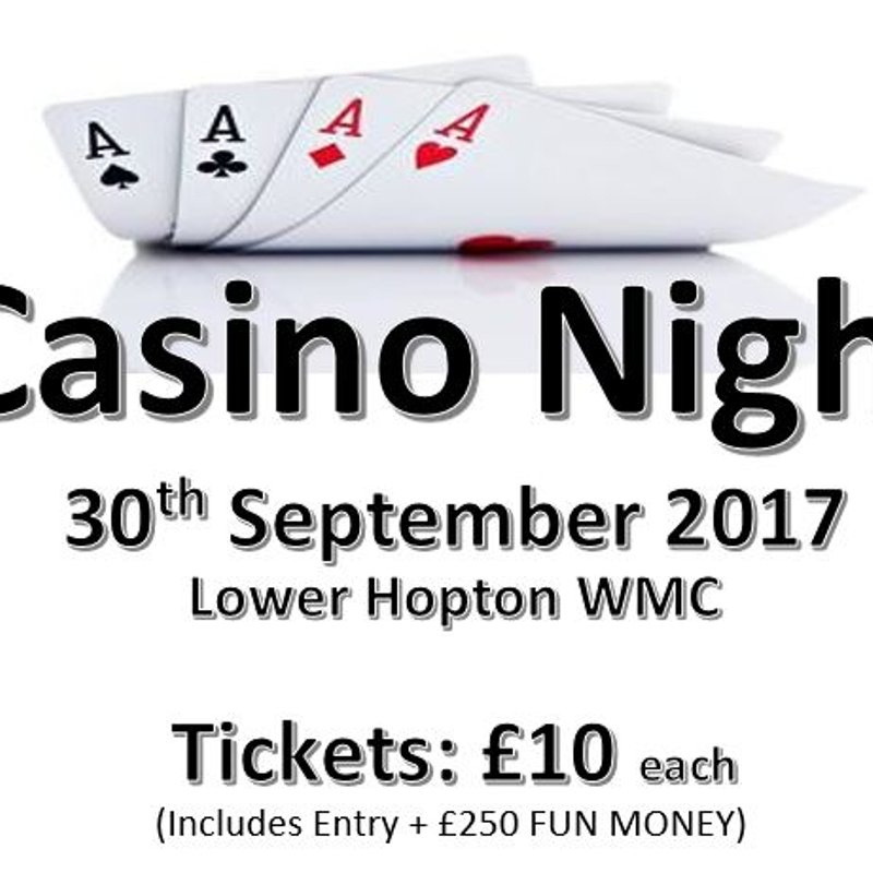 Casino Night Saturday 30th September