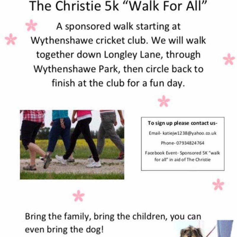 "The Christie 5k ""Walk for ALL"" Sun 27th Aug"