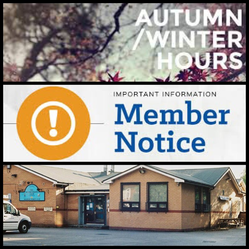 *New Club Winter Opening Hours