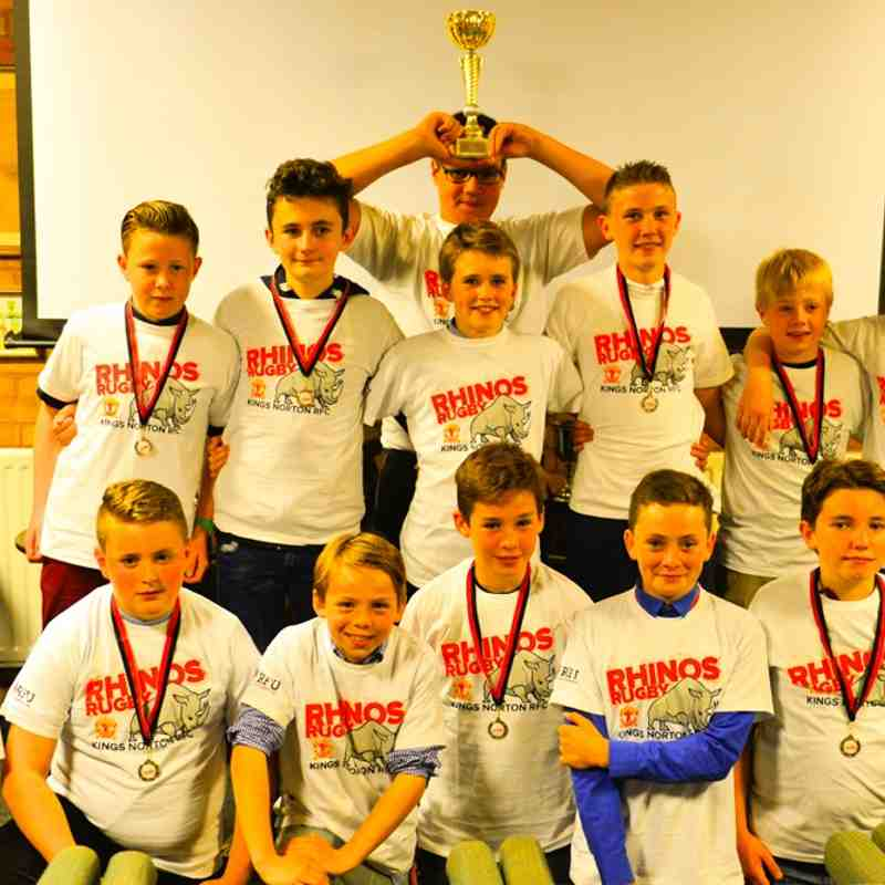 Rhinos U12s end of season presentation 2015