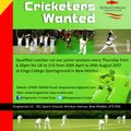 Interested in Cricket - join Kingstonian Cricket Club