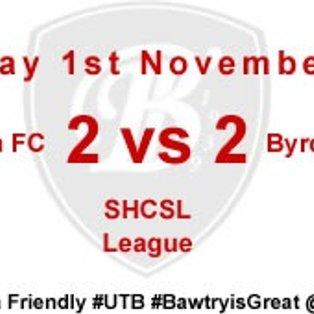 Bawtry Town 2 vs 2 Byron House