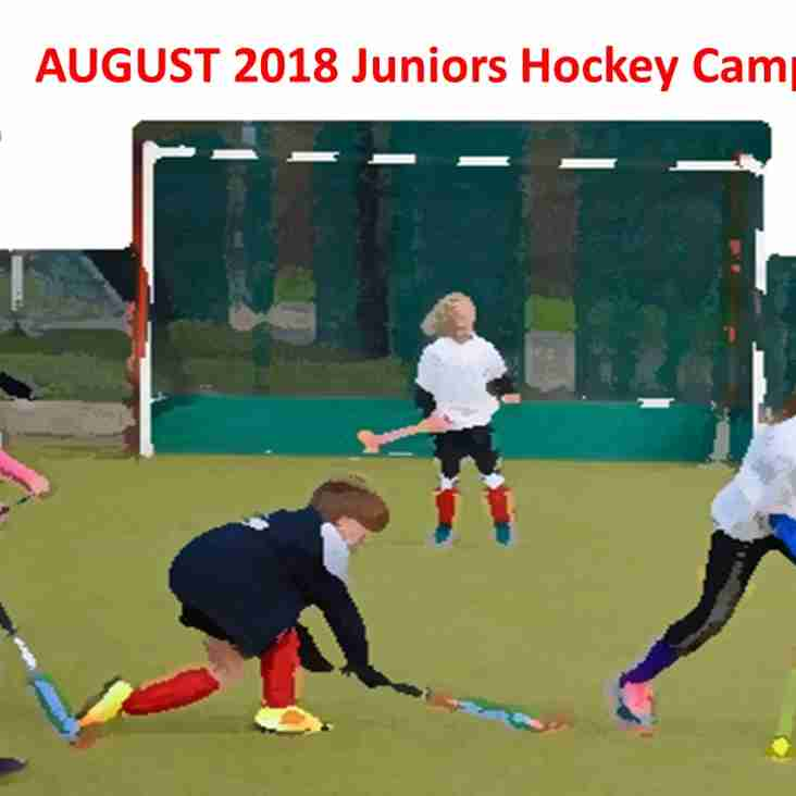Pre-season BHHC Junior Hockey Camp: 21/22/23 August 2018