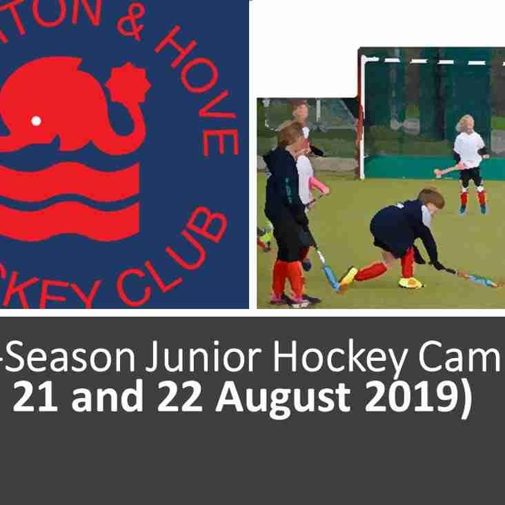 Pre-Season Juniors Hockey Camp August (20, 21 & 22)