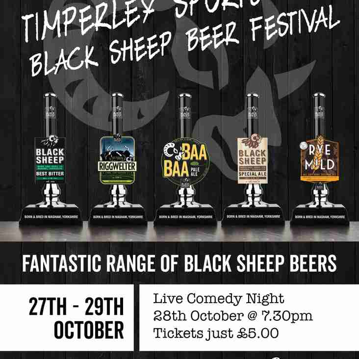 Black Sheep Beer Festival - 27th-29th October @ TSC