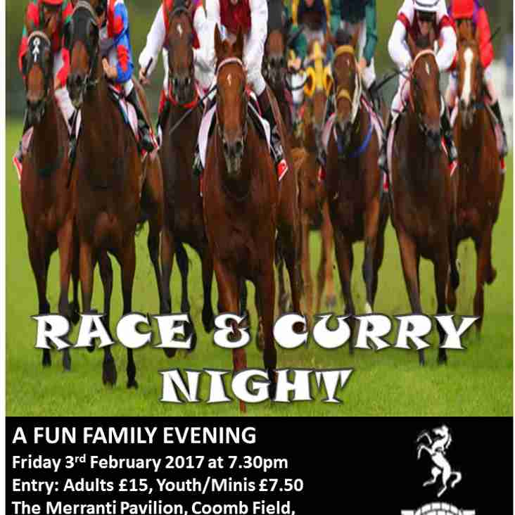 The Race & Curry Night is Back!