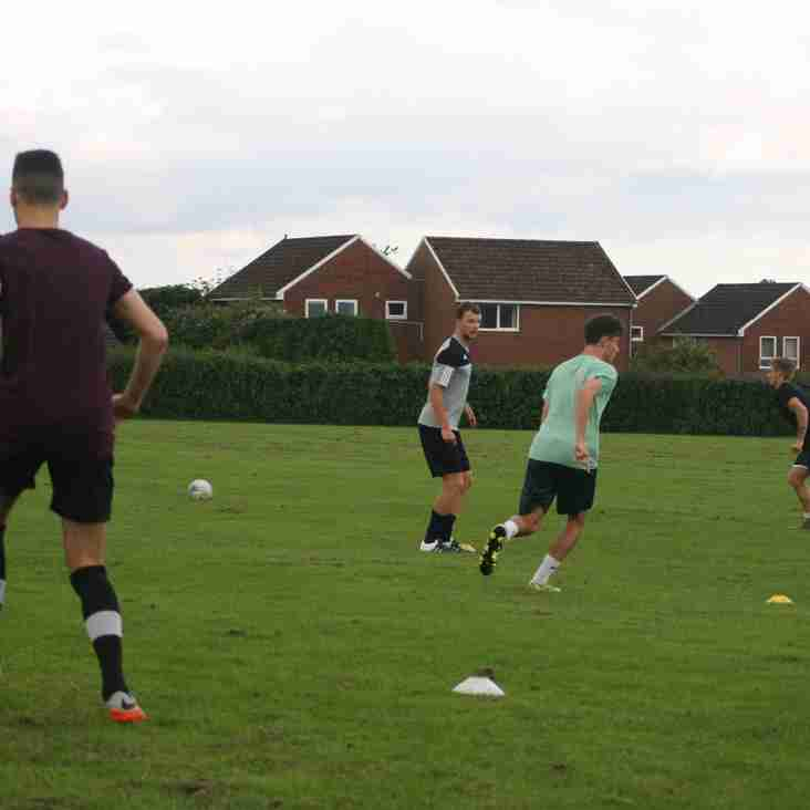 All smiles as training gets under way for Petersfield Town