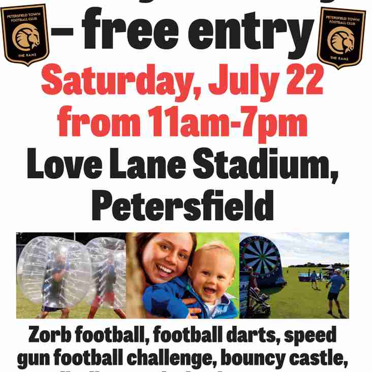 Petersfield Town to host Family Fun Day
