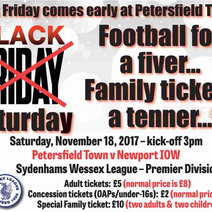 Black Friday comes early at Petersfield Town