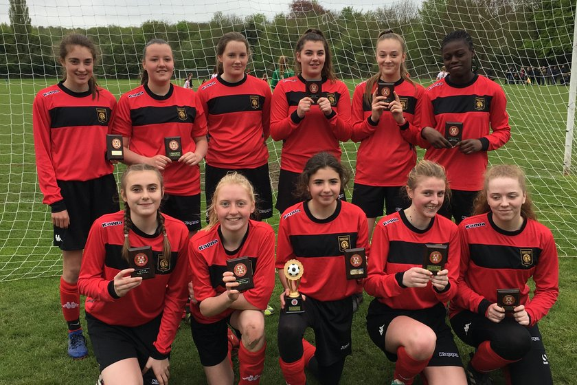 Petersfield Town's development section enjoys more success with girls' Plate victory