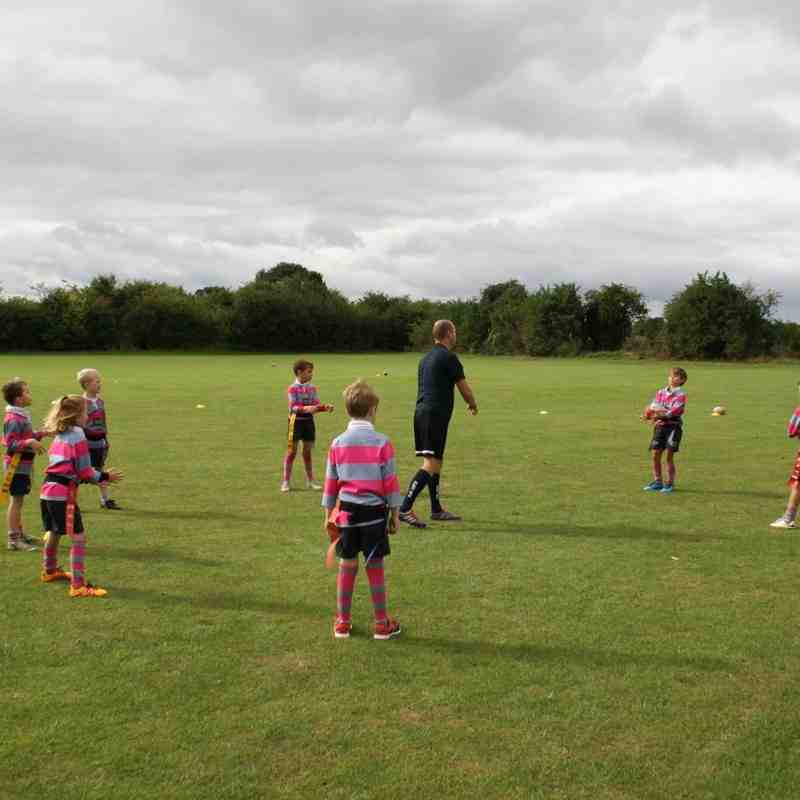 Under 8s first day back training