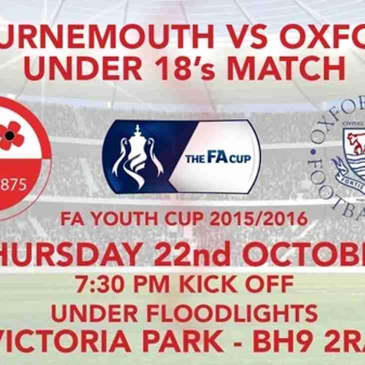 OCFC U18's FA Youth Cup 3rd Qualifying Round