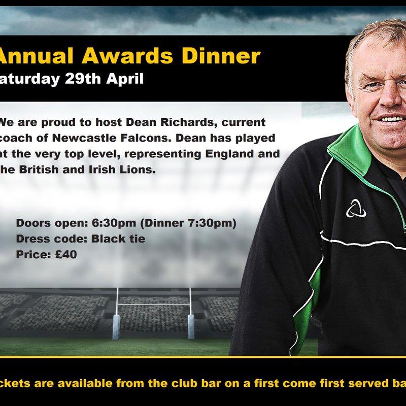 Annual Awards Dinner  Sat 29th April