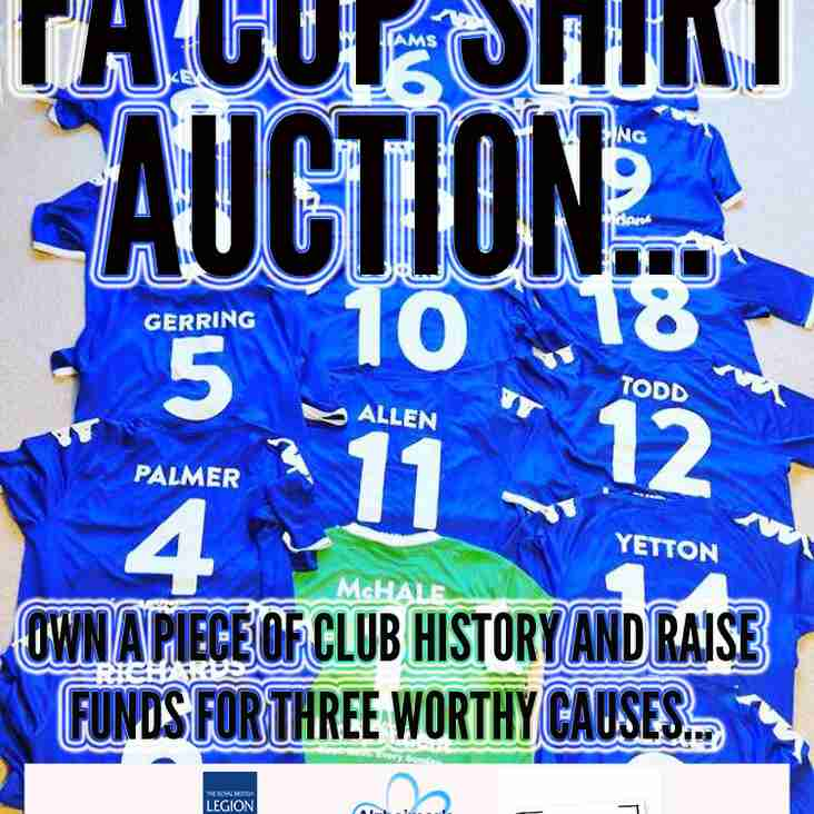 FA CUP SHIRT AUCTION: Own a piece of club history and raise money for three great charities