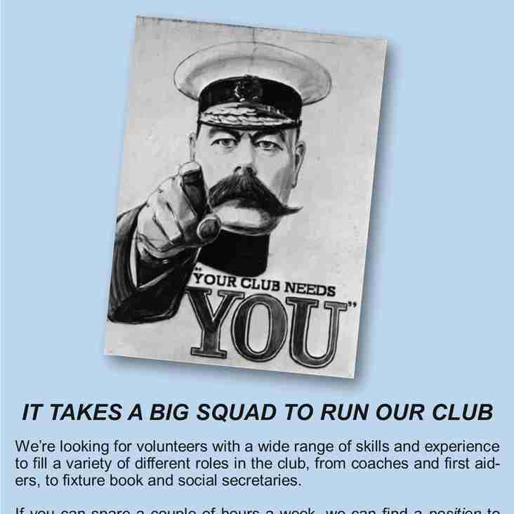 YOUR CLUB NEEDS YOU!!