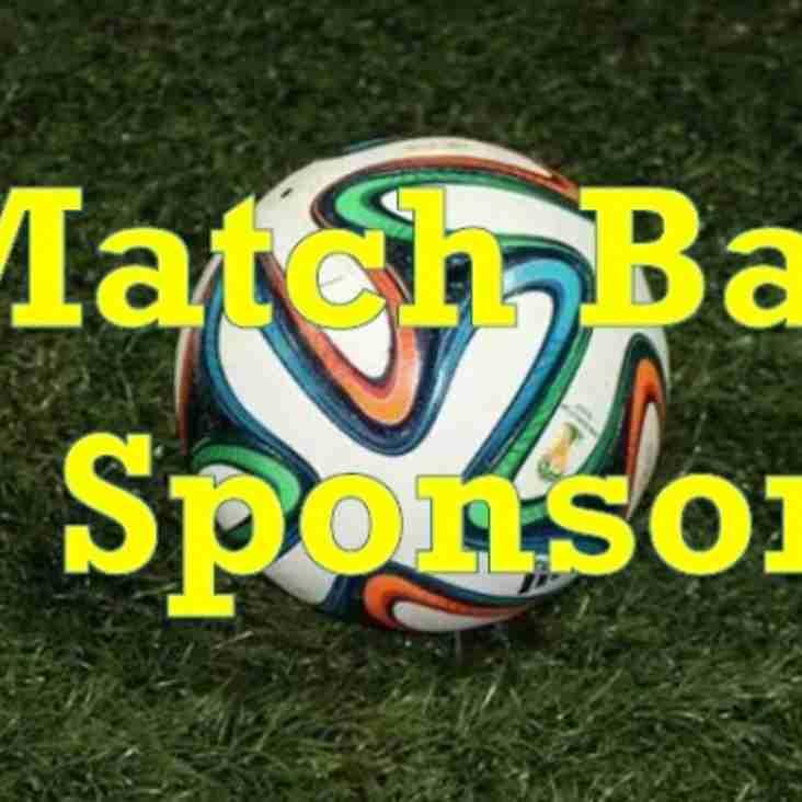 Become A Match Ball Sponsor