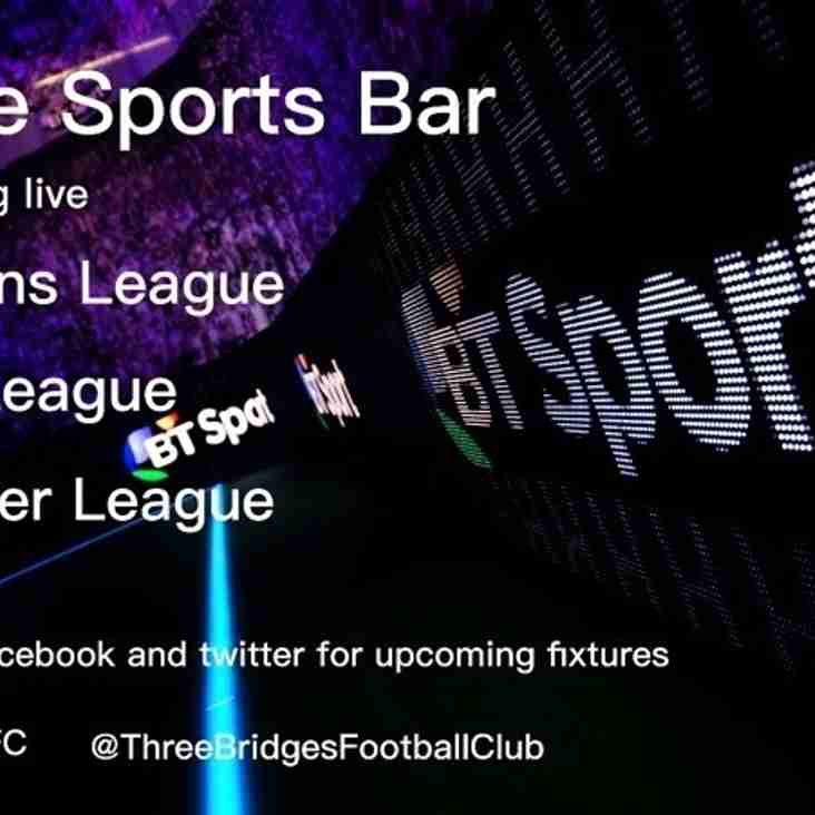 Premier League live on BT Sport at the club