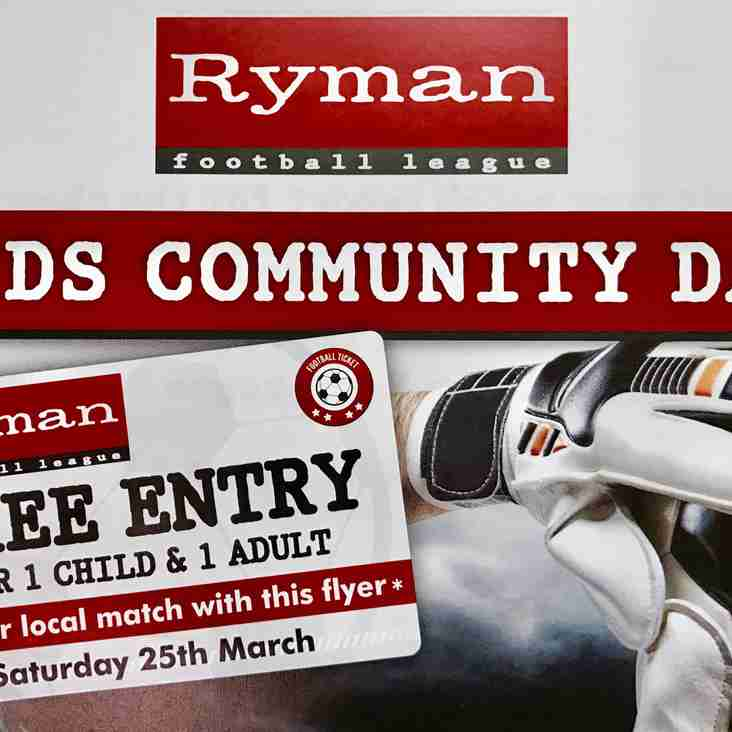 Ryman Football League Kids Community Day