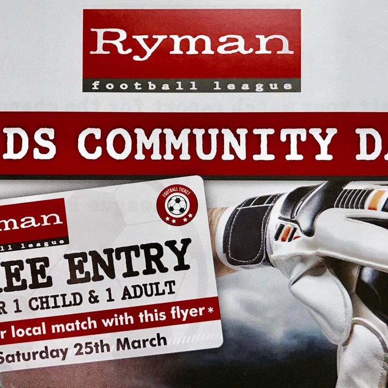 Ryman Football League Kids Community Day
