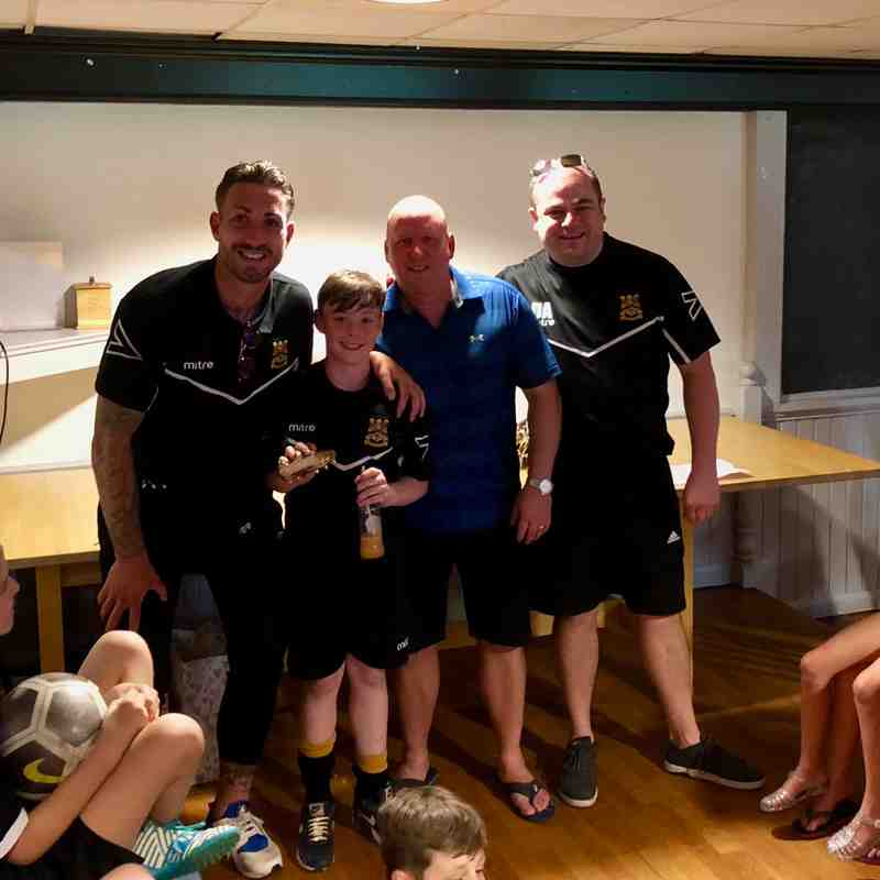 Three Bridges Youth U13 Award Winners 2018