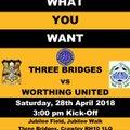 Pay what you want! Three Bridges 1st vs Worthing United