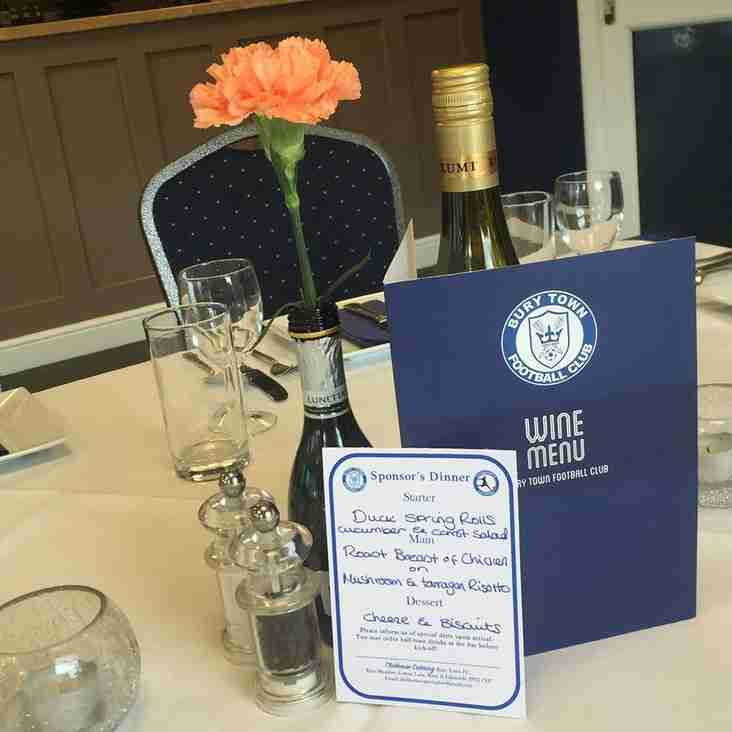 Book your Pre-Match Meal now for 20th October