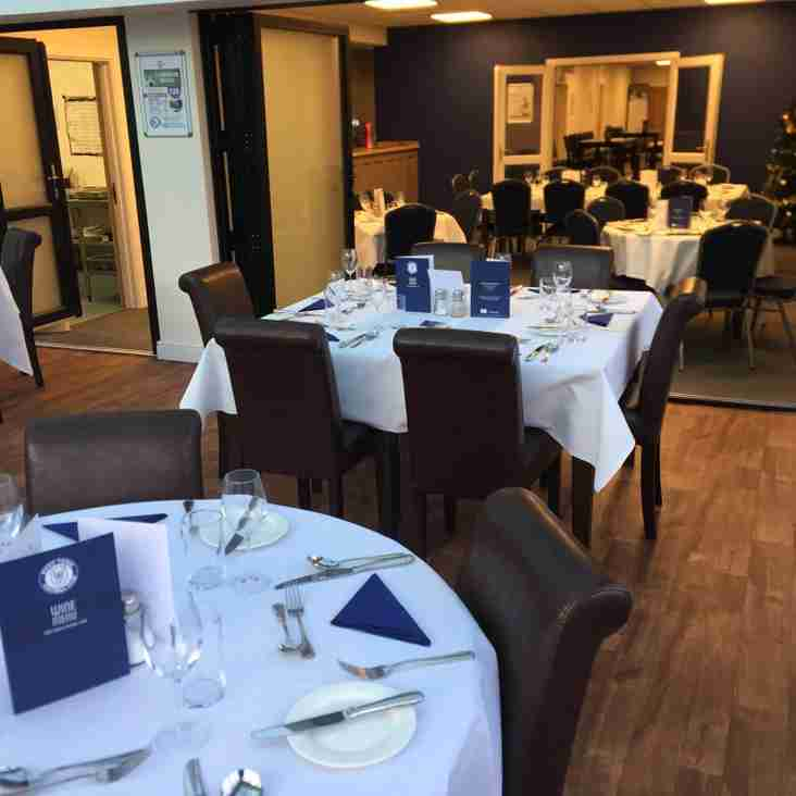 Limited places available for Pre Match Meal