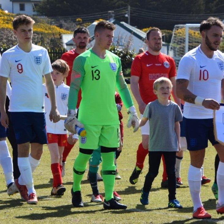 Luis Tibbles represents England in Falklands<