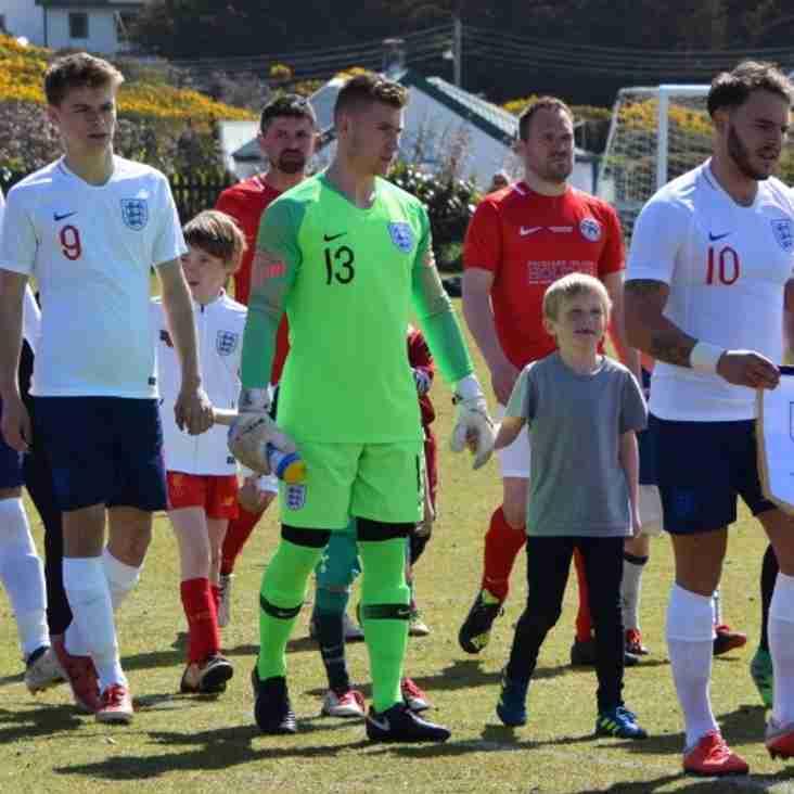 Luis Tibbles represents England in Falklands