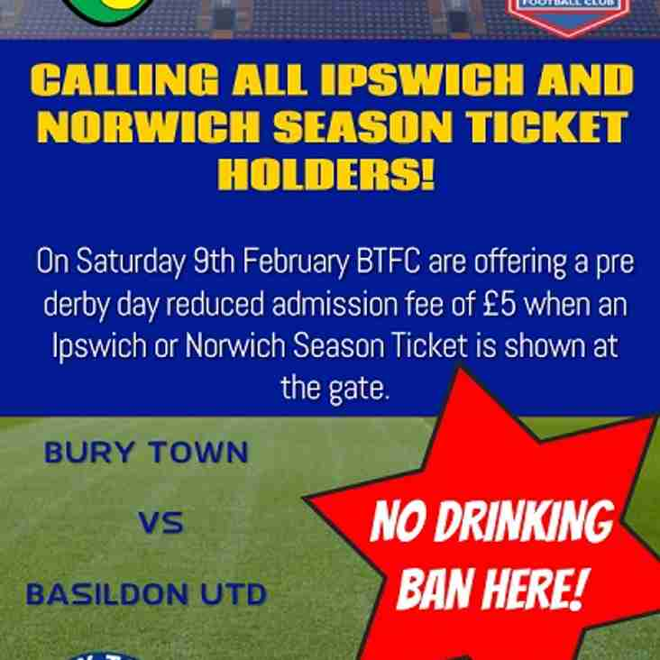 Discount for Basildon United Home Fixture
