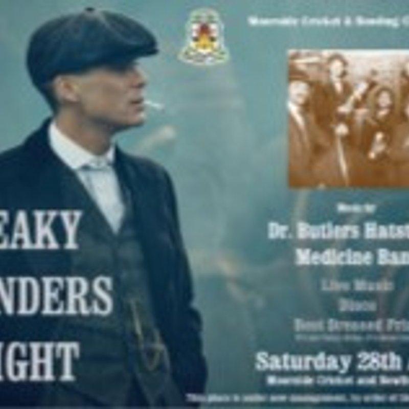 Peaky Blinders 1920's Theme Night - Saturday 28th April 2018