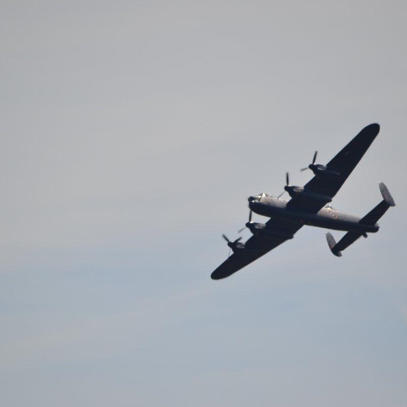 Avro Lancaster banking over Moorside....