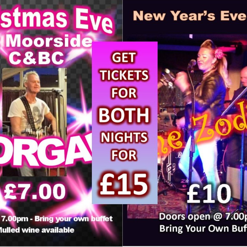 Christmas & New Year's Eve Tickets on sale now