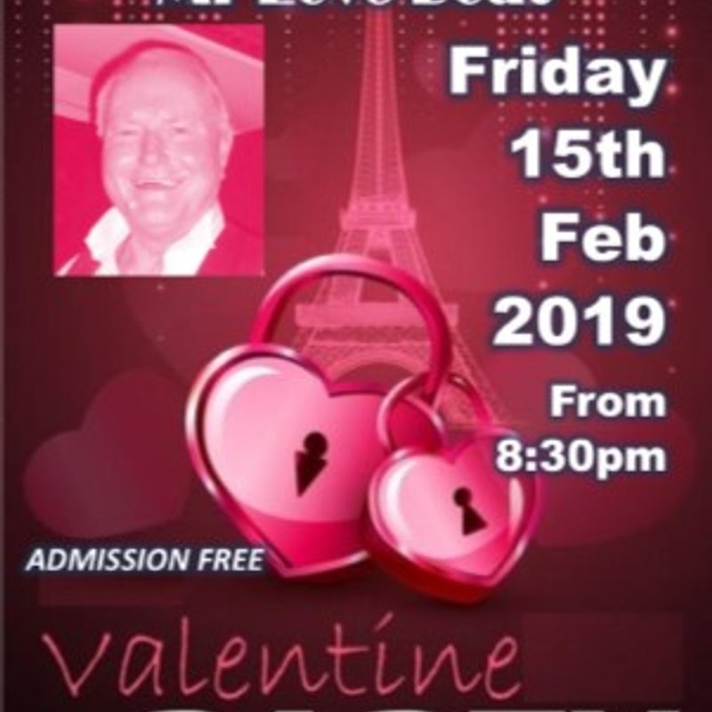 """Valentine's Special with Wayne Bentley - """"Mr Love Boat"""" - Friday 15 February"""