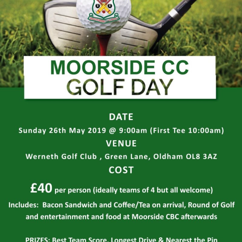 Moorside CC Golf Day - Sunday 26th May 2019