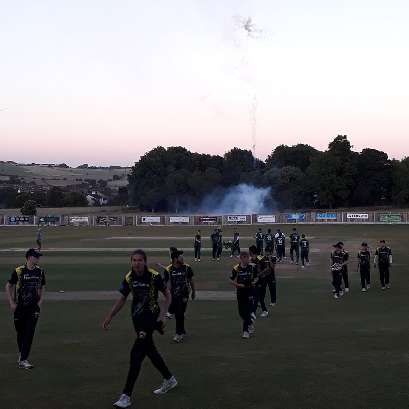 Fireworks on/off field in Halifax Under19 T/20 at Wakefield Rd